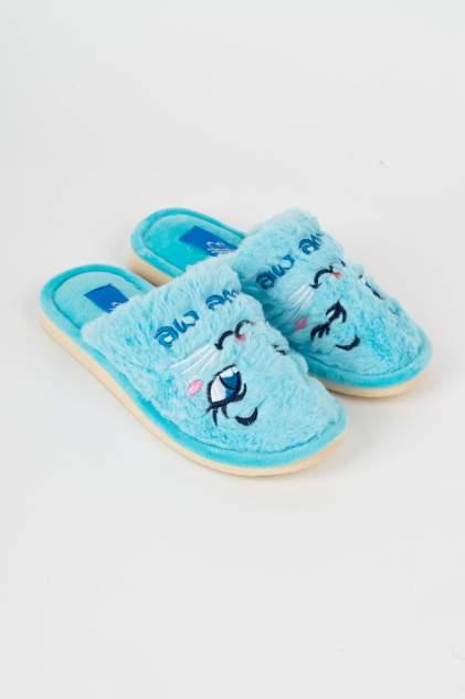 Домашние тапочки женские Effa 75655 голубые 38 RU