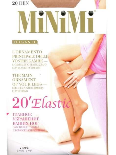 Капроновые гольфы женские MiNiMi ELASTIC 20 бежевые унив.