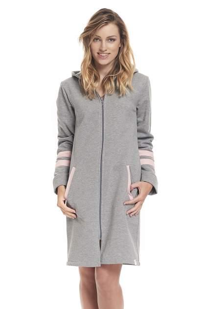 Домашний халат женский Dobranocka DN SMZ.9322 Grey P серый XL