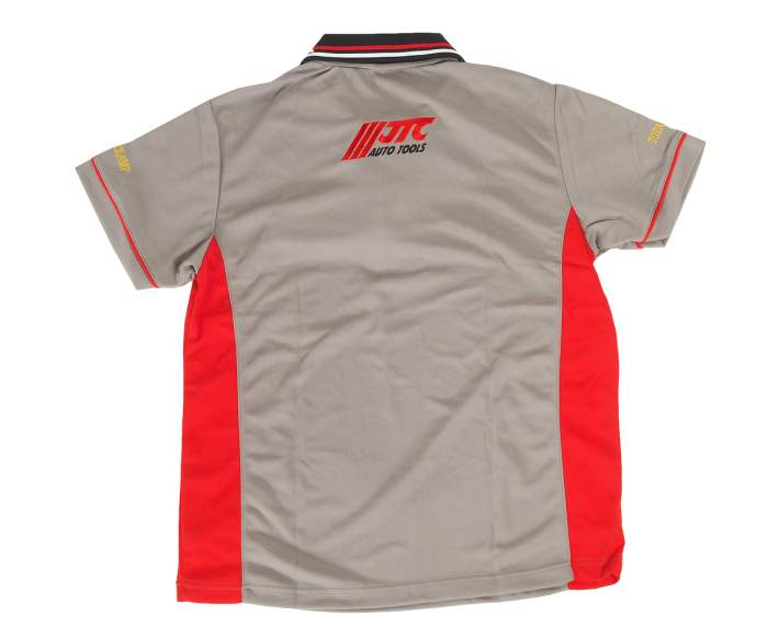 Рубашка-поло мужская с коротким рукавом, размер L (100% полиэстер) JTC /1