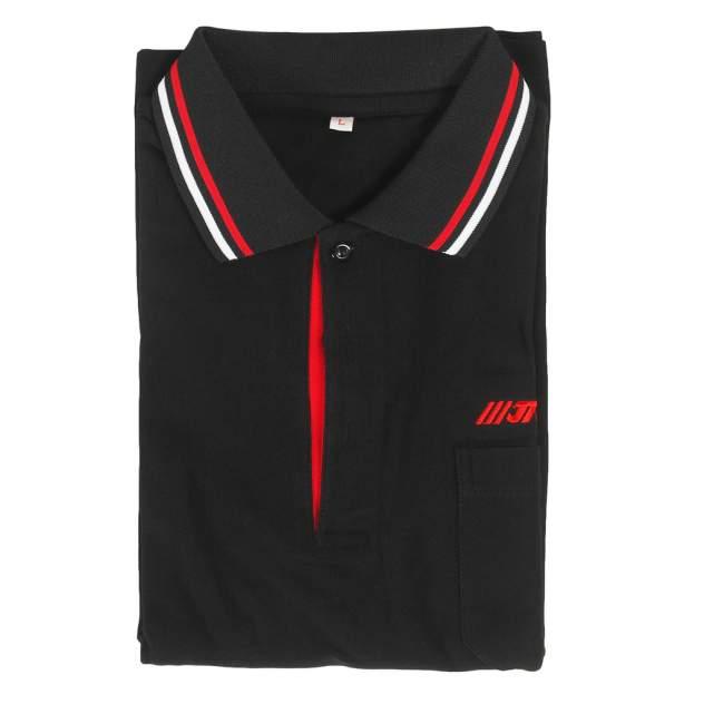 Рубашка-поло мужская с длинным рукавом, размер L (65% хлопок, 35% полиэстер) JTC /1