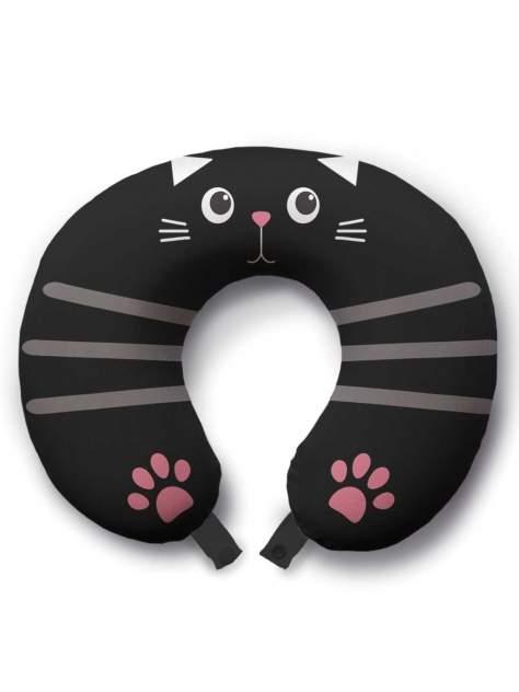 Дорожная подушка JoyArty Милый котик с лапками белая