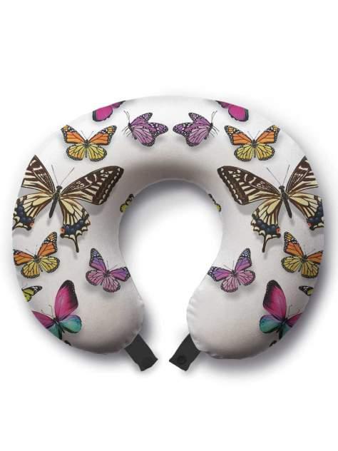 Дорожная подушка JoyArty Вихрь из бабочек черная