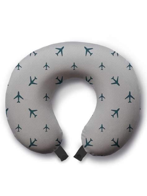 Дорожная подушка JoyArty Туристические самолеты серая