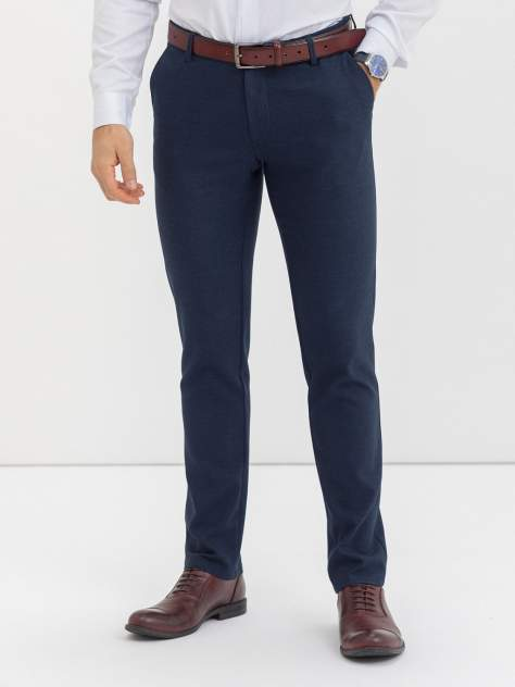 Классические брюки Marc De Cler ZB-Chinos-24145Blue-176, голубой, синий