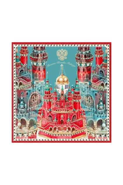Платок женский РУССКИЕ В МОДЕ Москва-Кремль-Фаберже 0128 зеленый
