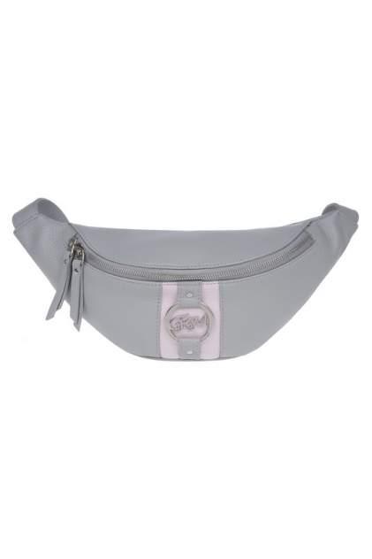 Поясная сумка женская Franchesco Mariscotti 1-4595К-003 серая
