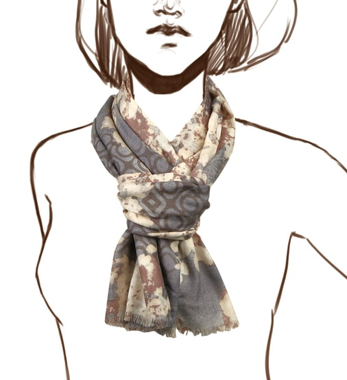 Палантин женский Henry Backer H1701W16 серый