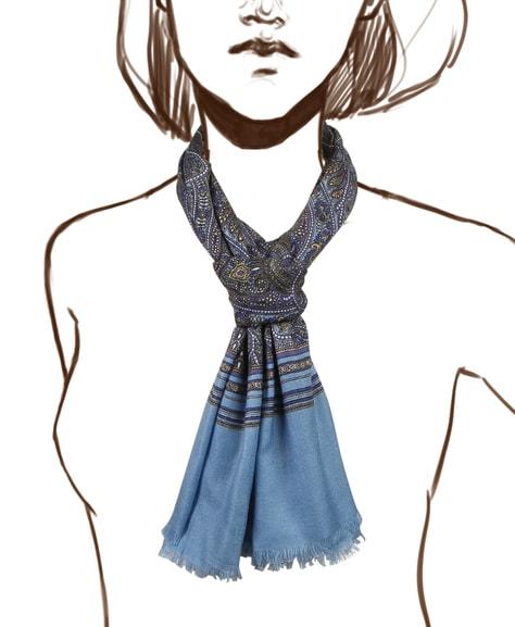 Палантин женский Henry Backer H1701W19 голубой