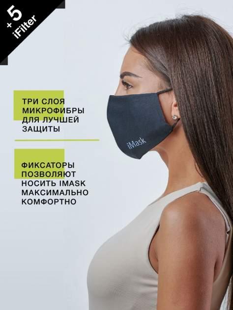 Маска многоразовая женская i-Mask с комплектом сменных фильтров iFilter Чёрная