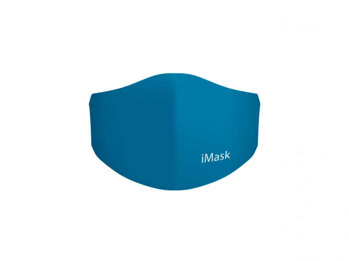 Маска многоразовая детская i-Mask с комплектом сменных фильтров iFilter 6-12 лет Голубая