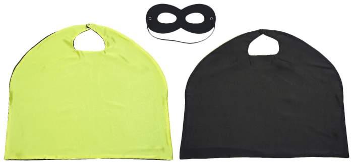 Карнавальный костюм Sima-land Супергерой, цв. зеленый; черный р.98