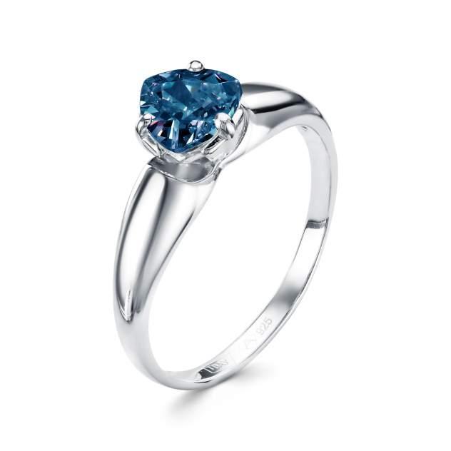 Кольцо женское АЛЬКОР 01-0369/ЮСТЛ-00 из серебра, кристалл ювелирный, р. 17