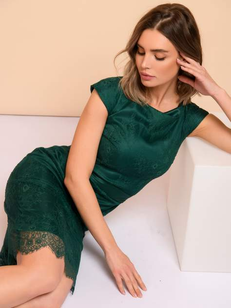 Женское платье 1001dress 0132101-00547EM, зеленый