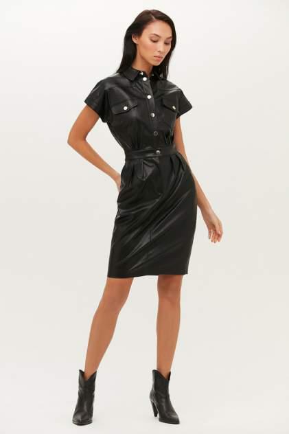 Платье-рубашка женское LOVE REPUBLIC 1151216553 черное 44