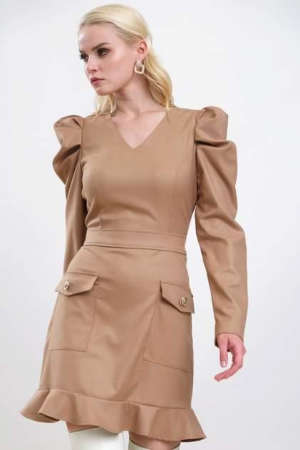 Женское платье AVEMOD AV 1046, бежевый