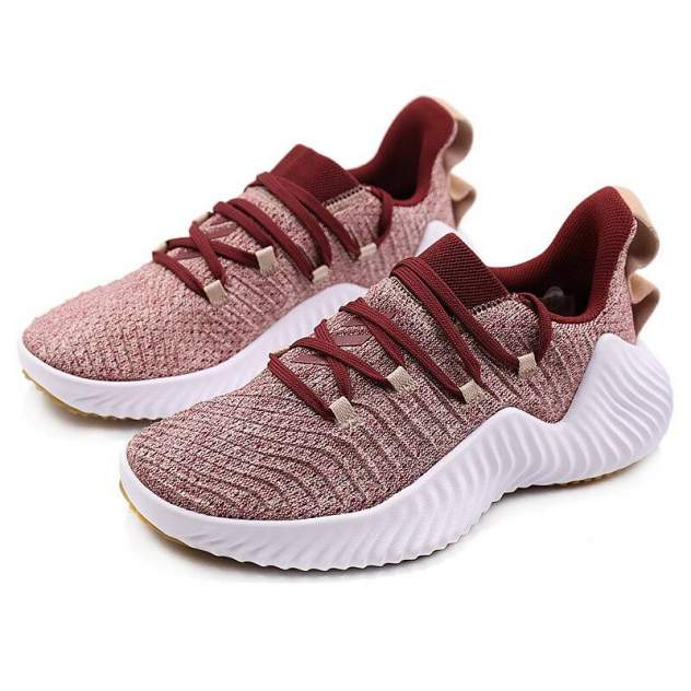 Кроссовки женские Adidas Alphabounce, бордовый