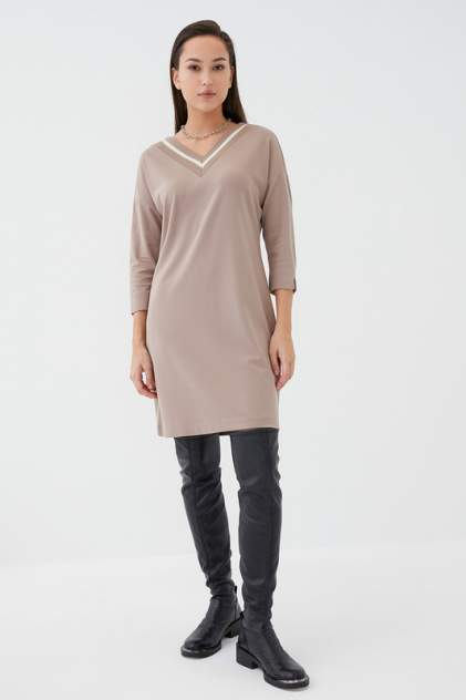 Повседневное платье женское ZARINA 1121001505 бежевое 48
