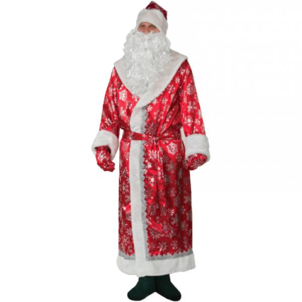 Карнавальный костюм Дед Мороз Красный Lemon Tree р.56