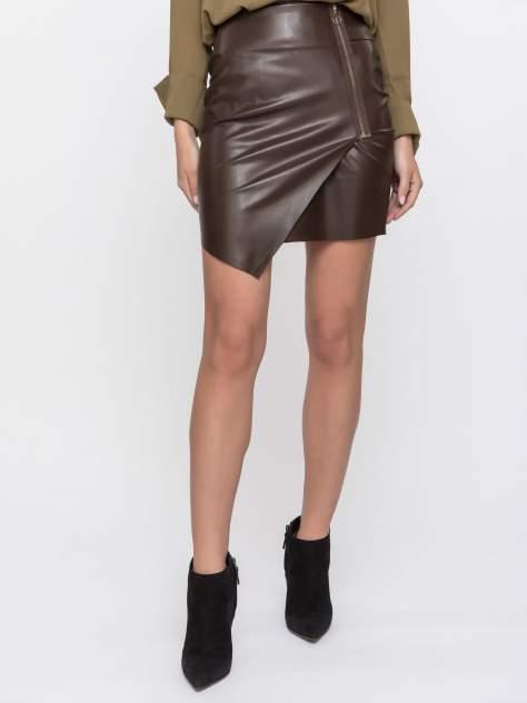 Юбка женская XINT GD61200215 коричневая 36
