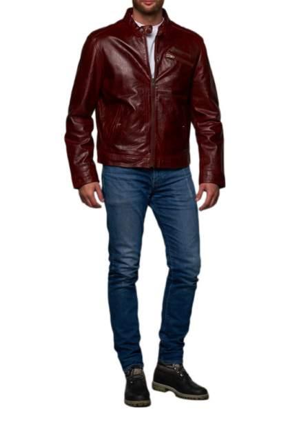Мужская кожаная куртка REDSKINS DY-2, бордовый