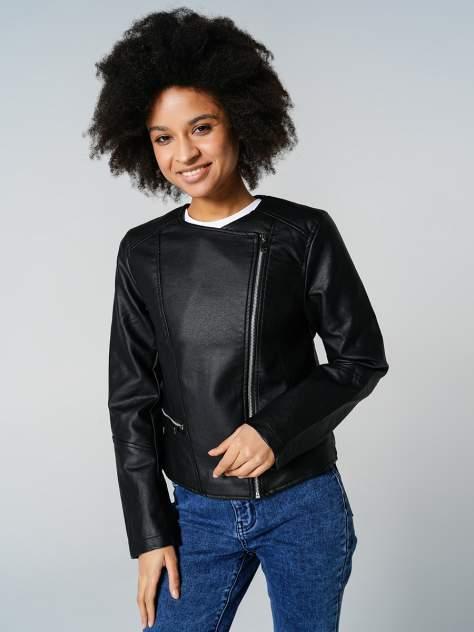 Кожаная куртка женская ТВОЕ A7292 черная XS