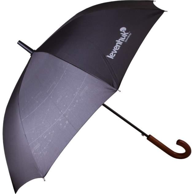 Зонт-трость унисекс полуавтоматический Levenhuk 72585 черный