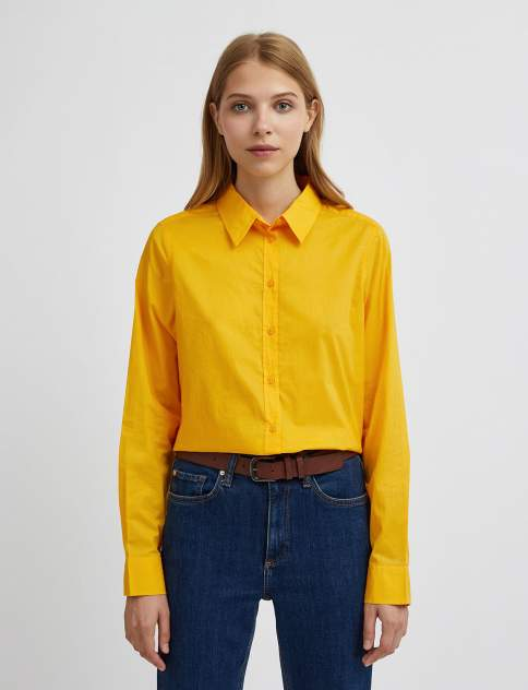 Женская рубашка United Colors of Benetton 21A_5CQY5QC13, желтый