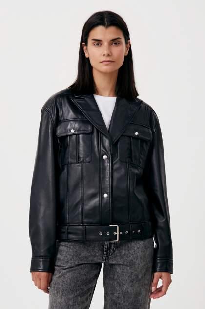 Женская кожаная куртка Finn Flare FAB11801, черный