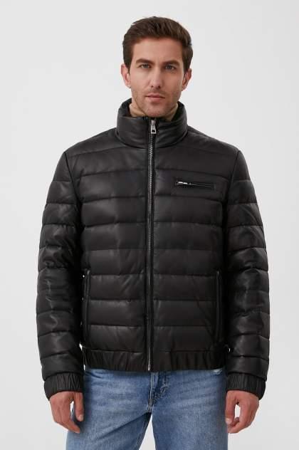 Мужская кожаная куртка Finn Flare FAB21802, черный