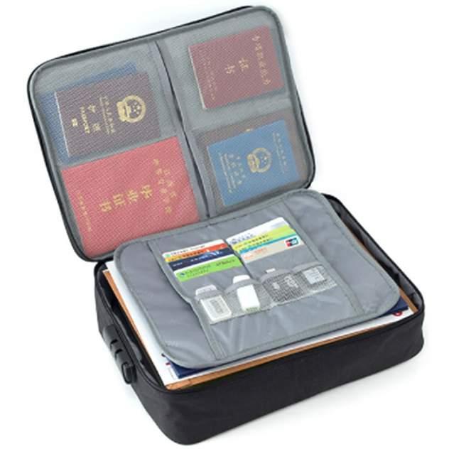 Дорожная сумка Home Comfort черная 7 x 25 x 35 см