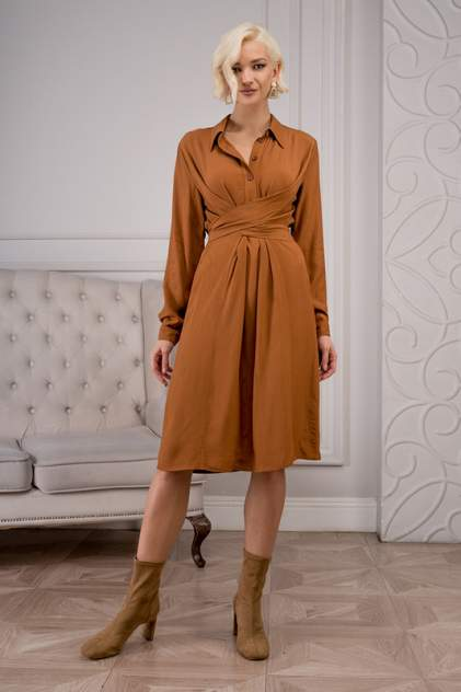 Платье-рубашка женское DELIA DRESS MOSCOW D1-20-2-3-01-52282 коричневое 50