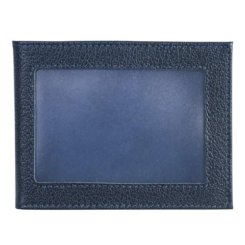 Обложка для удостоверения мужская Befler Грейд синяя