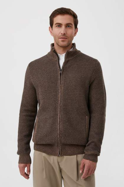 Кардиган мужской Finn Flare FAB21122, коричневый