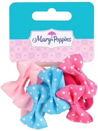 Набор резинок для волос, бантики, 6 шт 455030 Mary Poppins