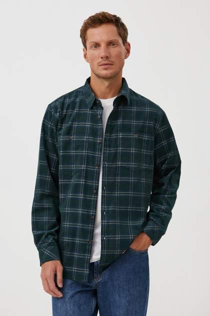 Рубашка мужская Finn Flare FAB21010, зеленый