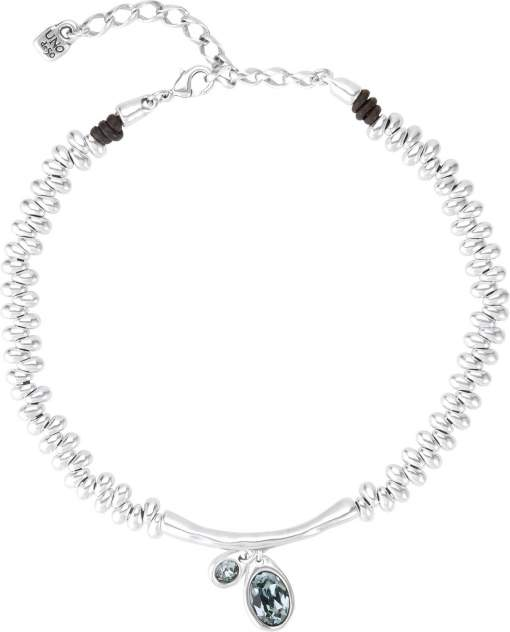 Ожерелье из металла со swarovski 37-42 см UNOde50 COL1343AZUMTL0U