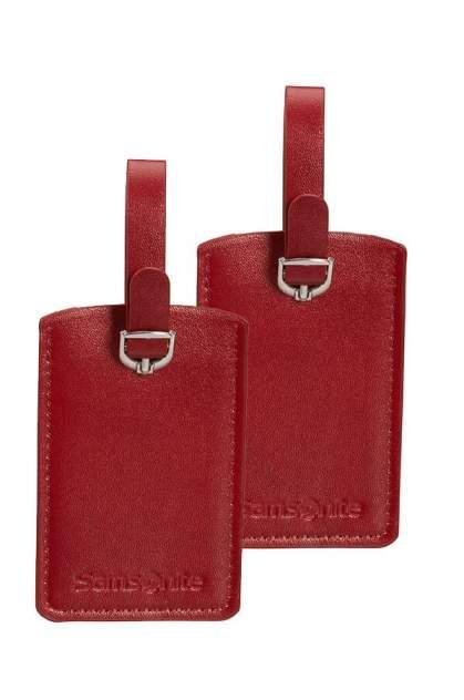 Бирка багажная Samsonite CO1-00051 красная, 2 шт