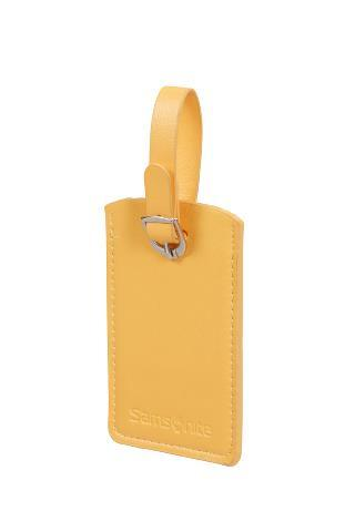 Бирка багажная Samsonite CO1-06051 желтая, 2 шт