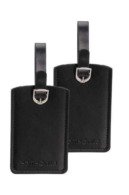 Бирка багажная Samsonite CO1-09051 черная, 2 шт