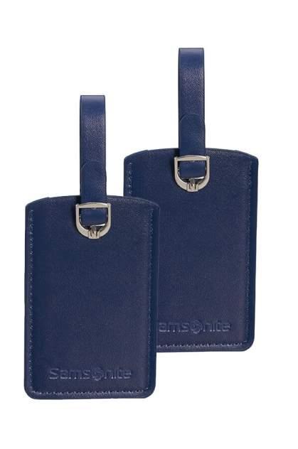 Бирка багажная Samsonite CO1-11051 синяя, 2 шт