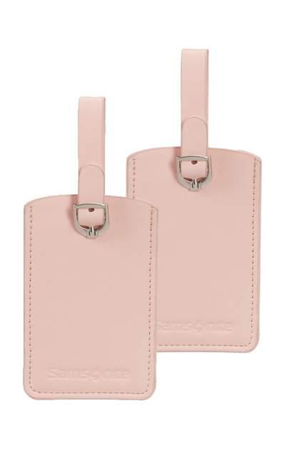 Бирка багажная Samsonite CO1-90051 розовая, 2 шт