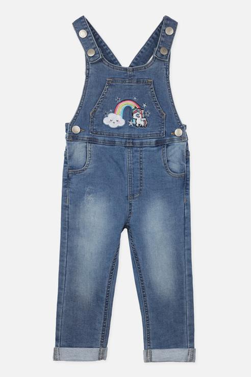 Купить 120326002, Комбинезон джинсовый для девочек PlayToday, цв. синий р.74, Play Today,