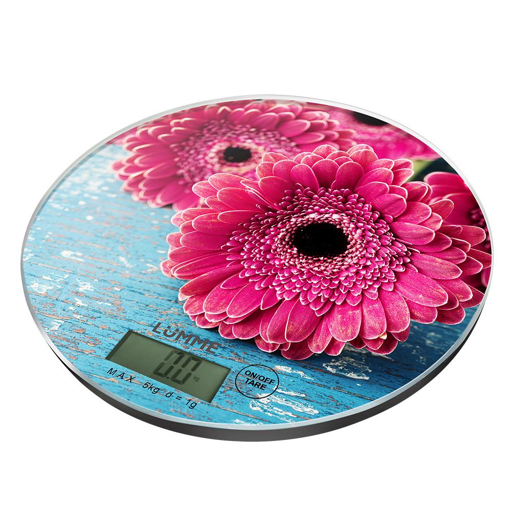 Весы кухонные LUMME LU 1341 Pink Gerbera