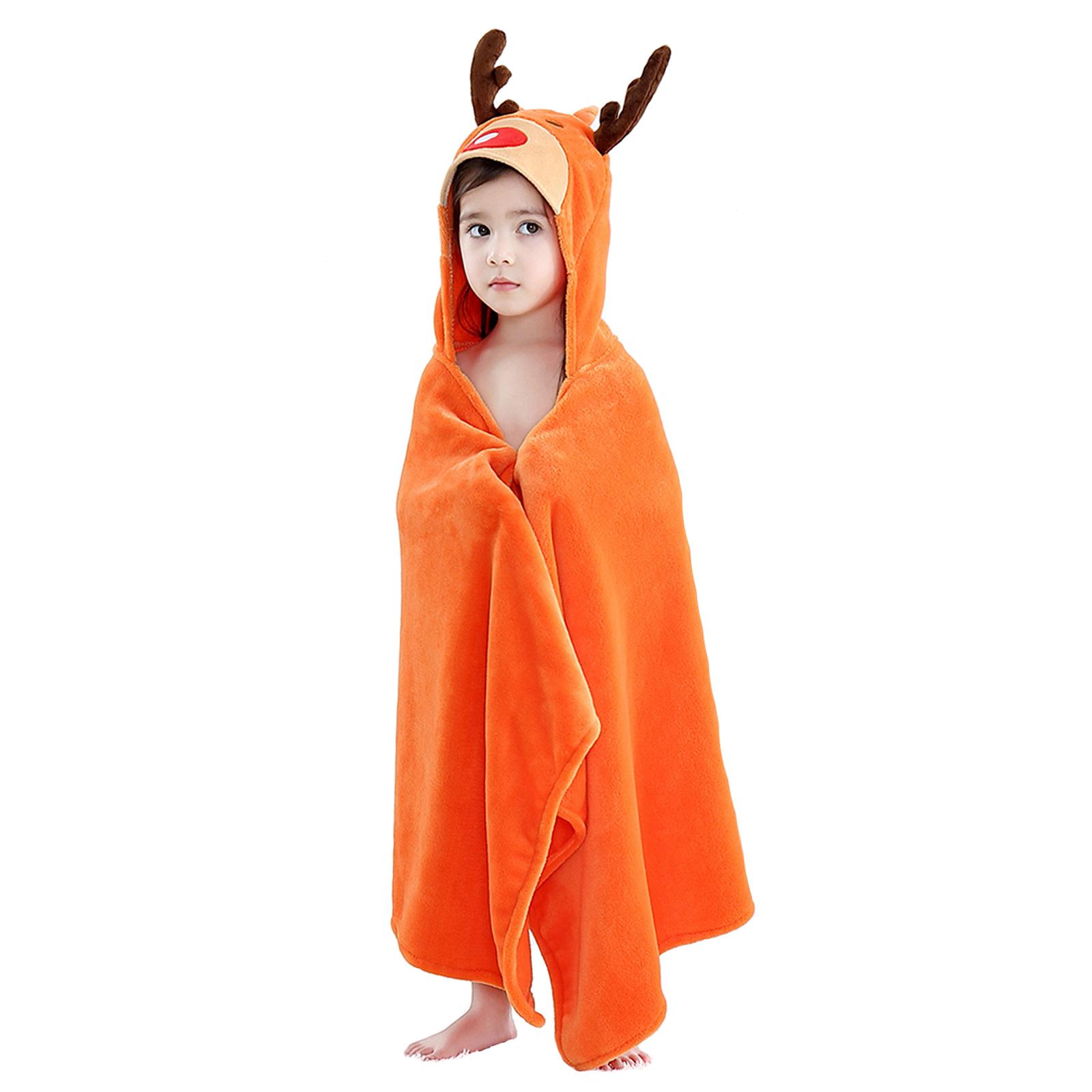 Купить Детское полотенце с капюшоном Baby Fox Олененок, цвет оранжевый, 60х120 см,