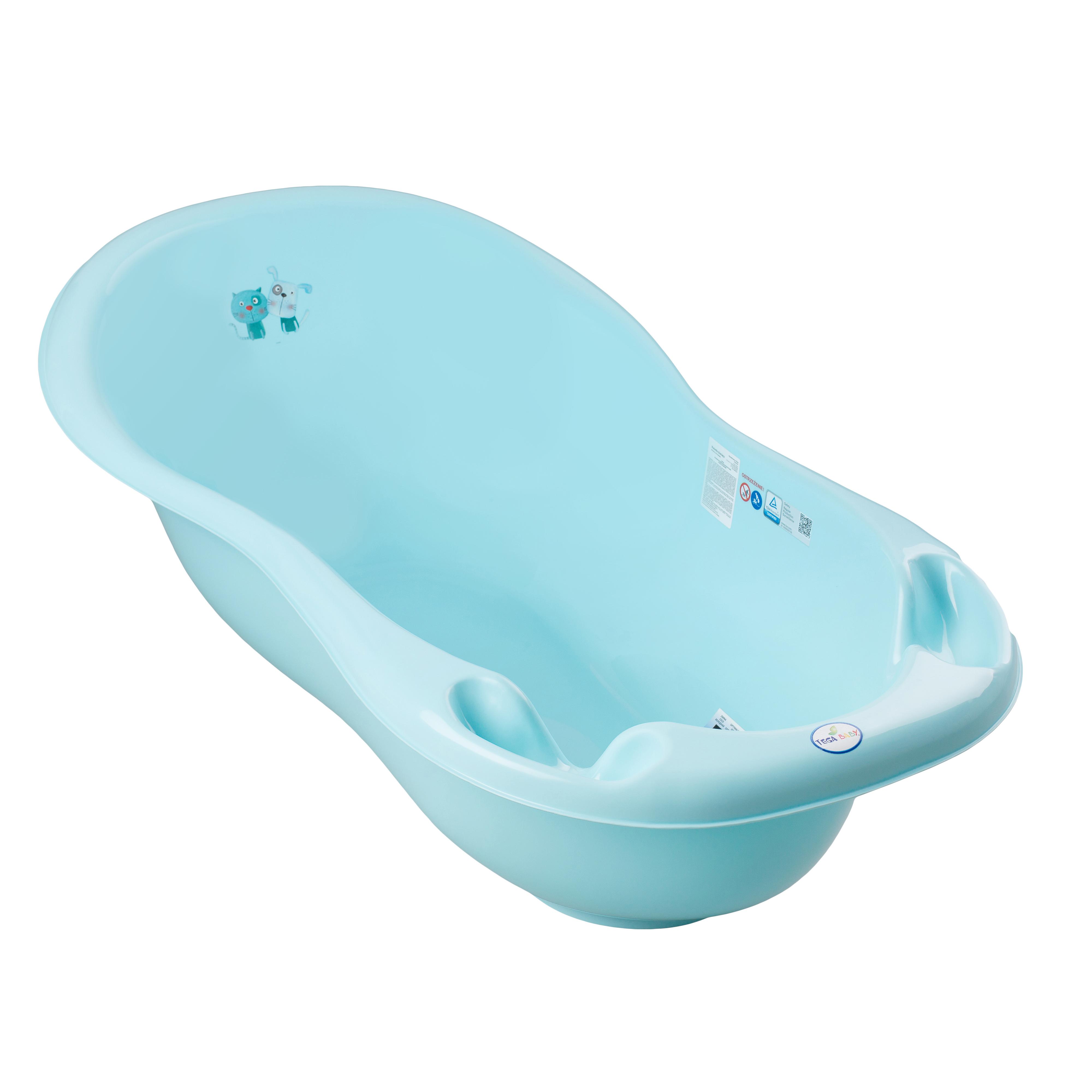 Купить Ванночка пластиковая детская Tega Пёс и кот цвет синий 102 см, УТ0009641, Tega Baby,