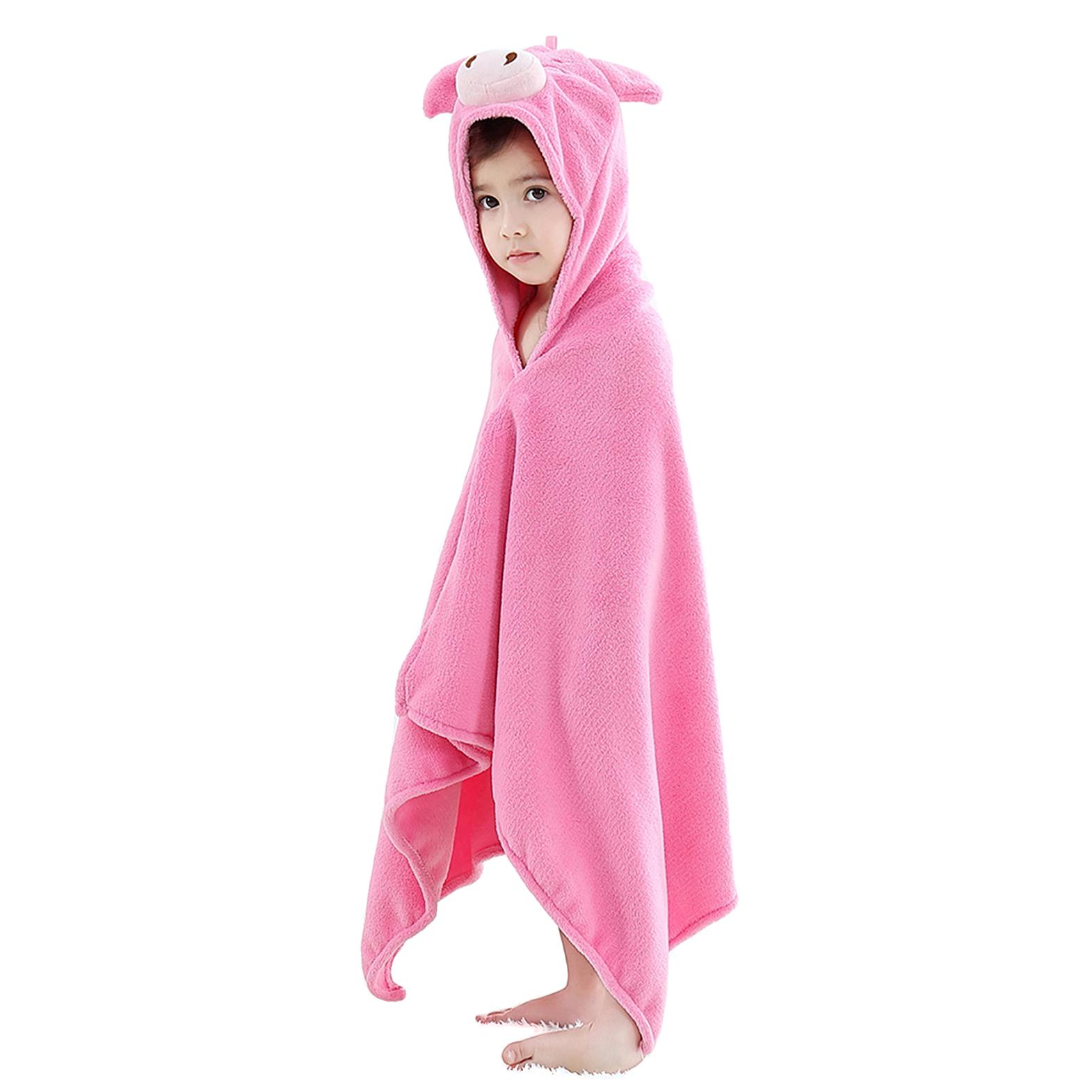 Купить Детское полотенце с капюшоном Baby Fox Поросенок, цвет розовый, 60х120 см,