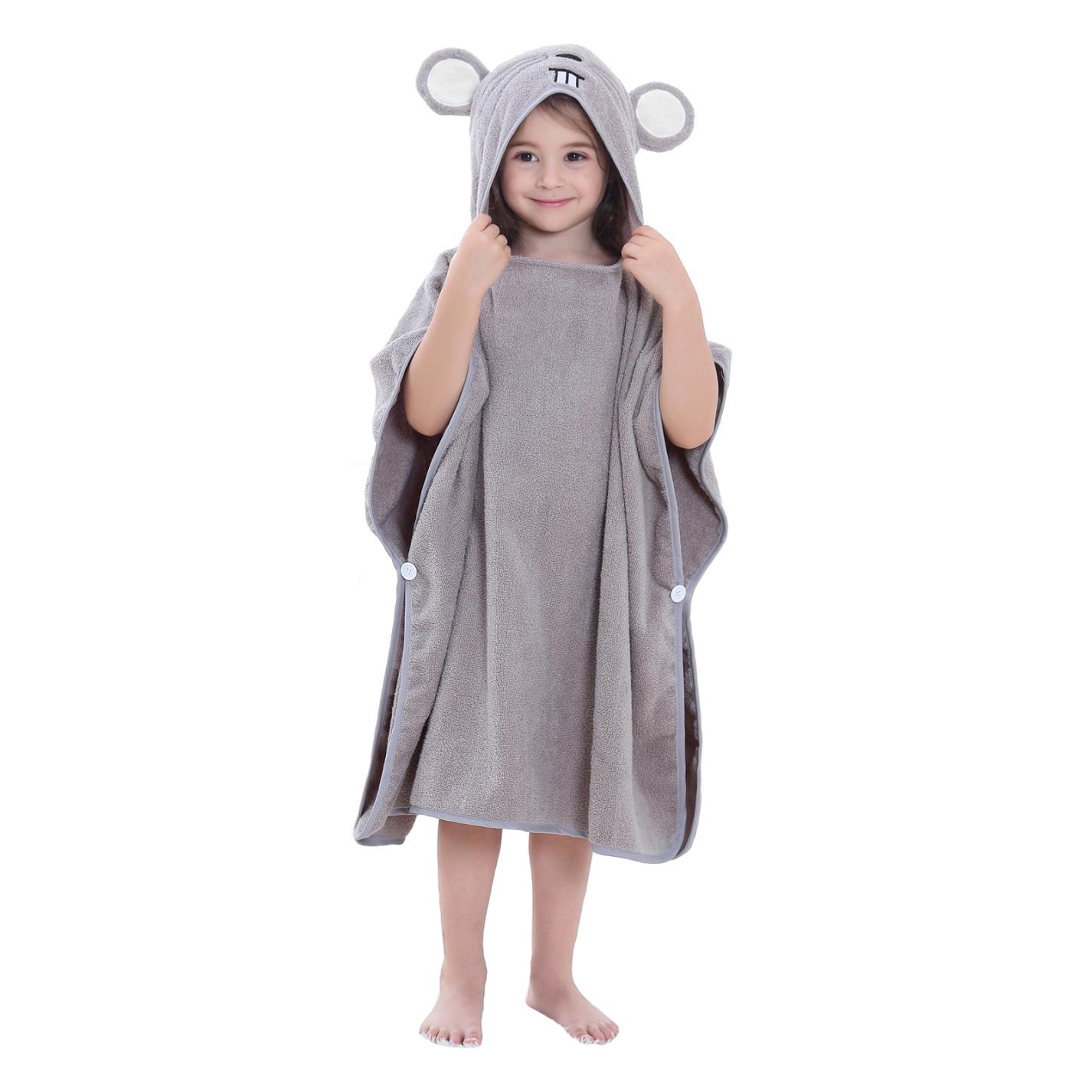 Купить Детское полотенце-пончо Baby Fox Мышка, цвет серый, 70х140 см,