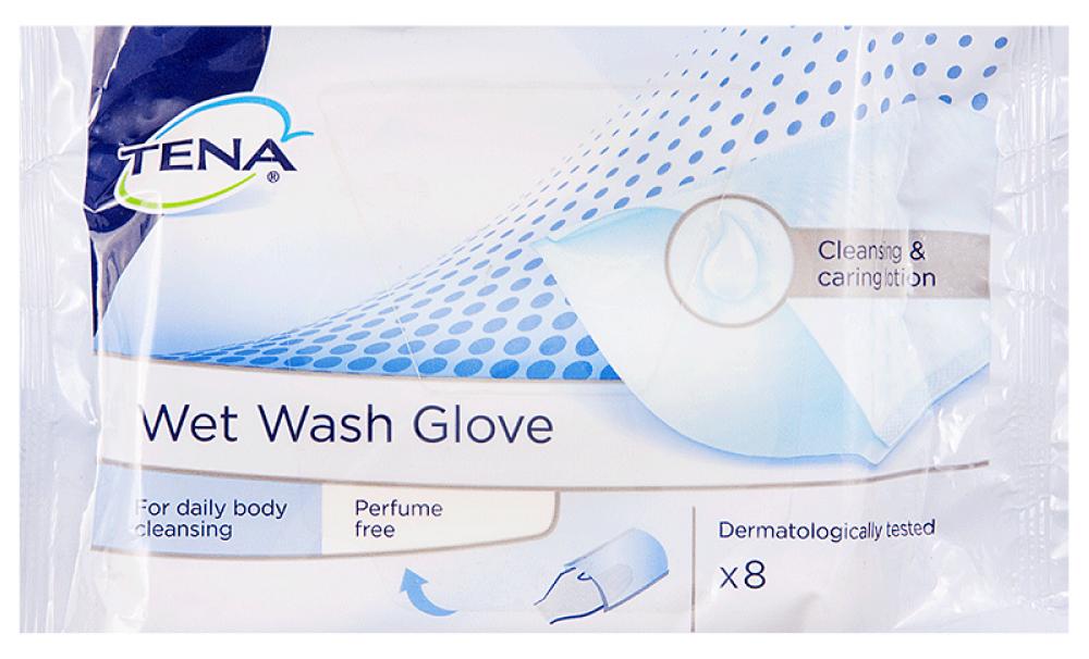 Рукавичка TENA для мытья 8 шт.