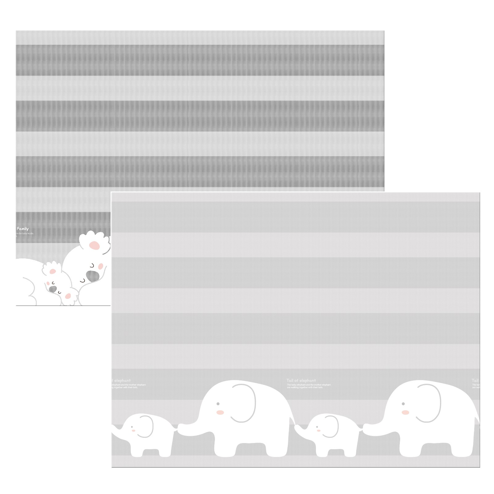 Двухсторонний коврик Parklon Prime Living Коалы/Слоники